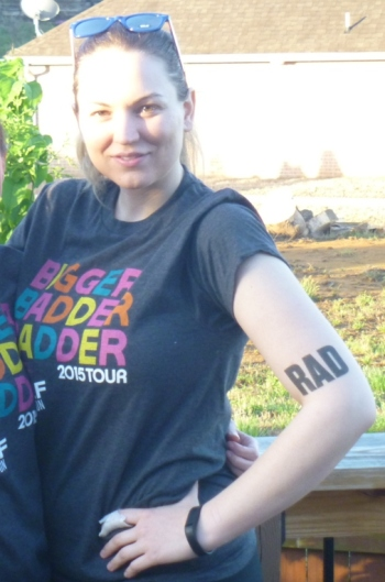 The shirt that was included in registration, plus my sweet new ink.