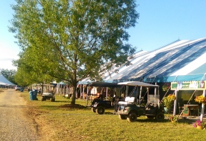 Golf carts are mandatory for looking like a high end barn.