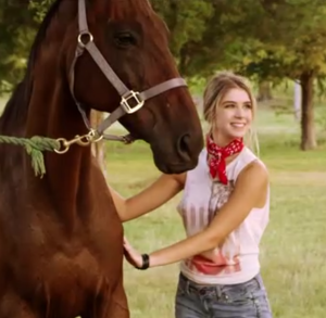 She's super happy now that she has the love of a horse and no longer dresses like a hooker.