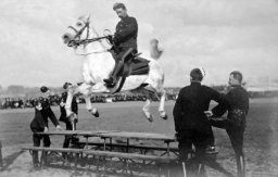 Old Style Horse Jumping