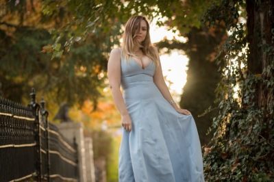 halston heritage skylark gown